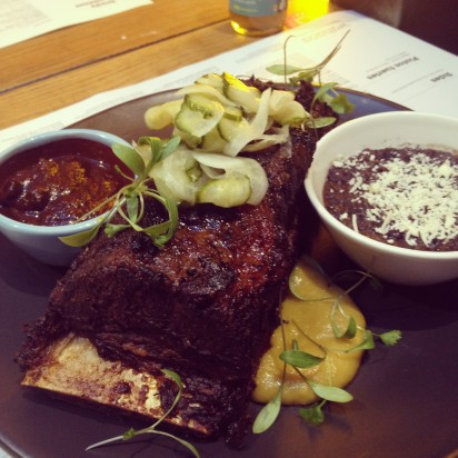 Our development team have been working on Oaxacan dishes like this slow cooked beef short rib in Oaxacan mole. Mmmmm