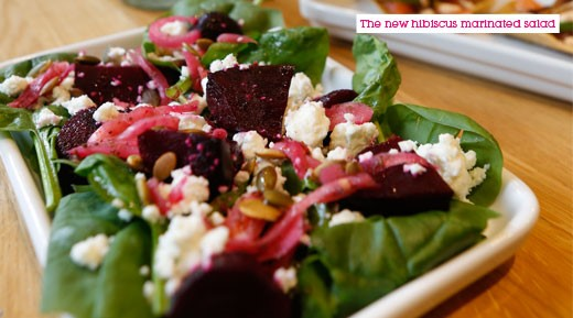 Hibiscus and beetroot salad
