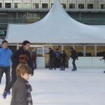 Ice skating in Canary Wharf