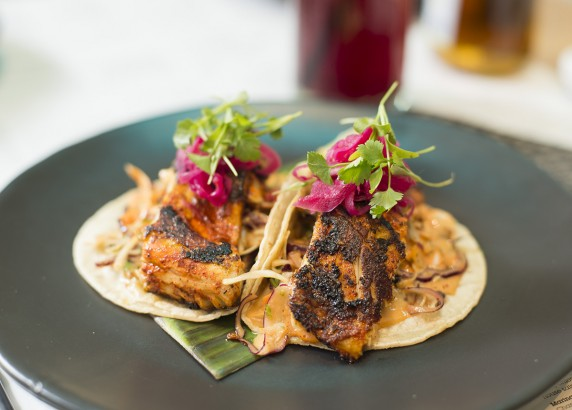 Sea Bass tacos Tikin Xic style