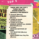 Top tunes we are showcasing at Wahaca this month
